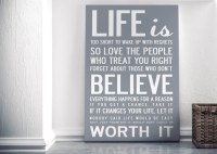 Wall Art: Canvas Wall Art Funny Quotes (#10 of 20 Photos)