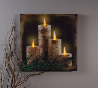 20 Inspirations Lighted Canvas Wall Art