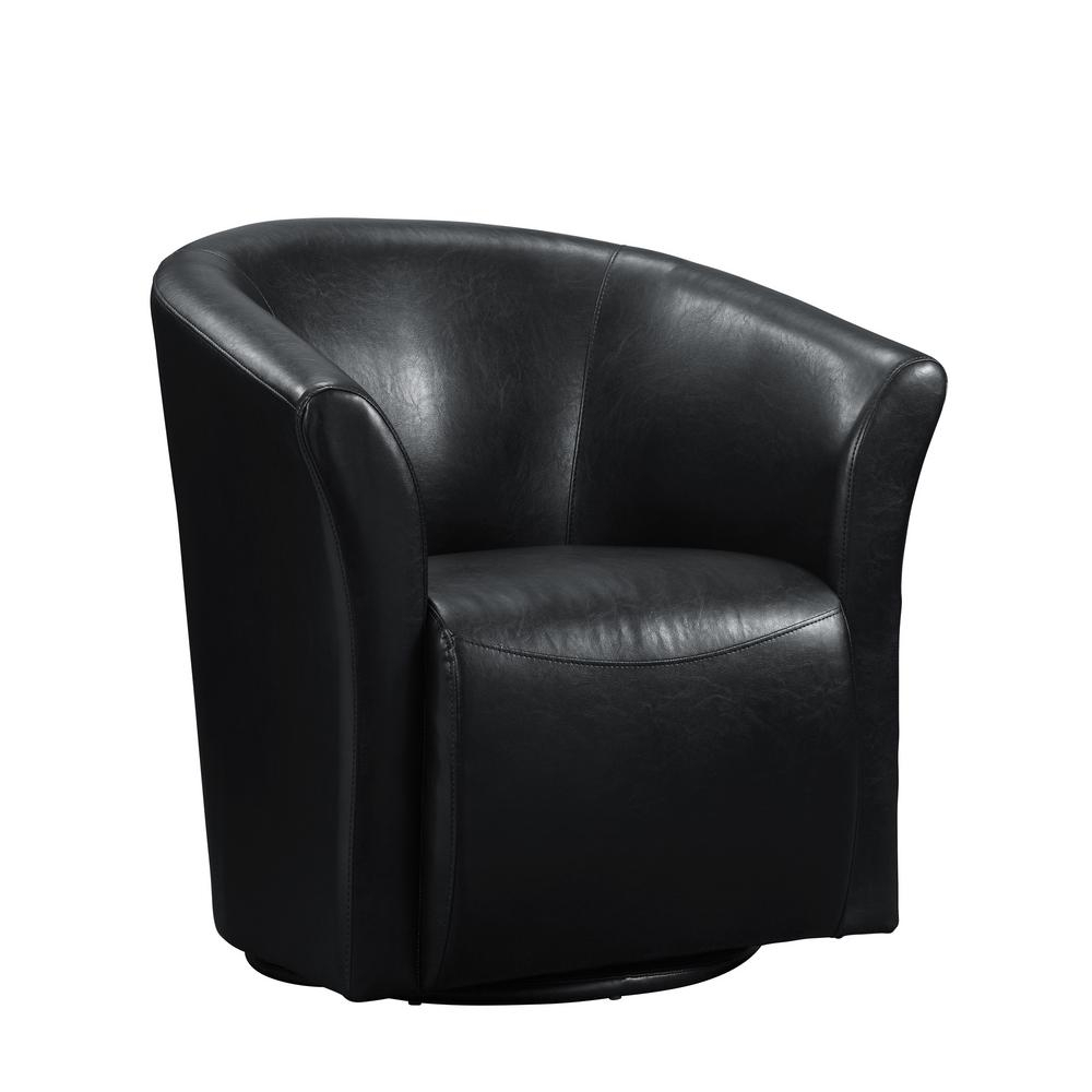 20 Best Ideas Leather Black Swivel Chairs  Sofa Ideas