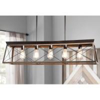 25 Best Delon 5-Light Kitchen Island Linear Pendants ...