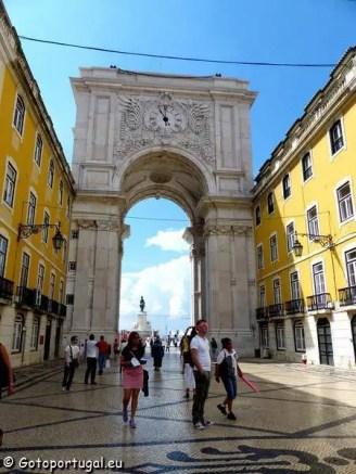 Visiter Lisbonne, la ville aux 7 collines - Arc de Triomphe