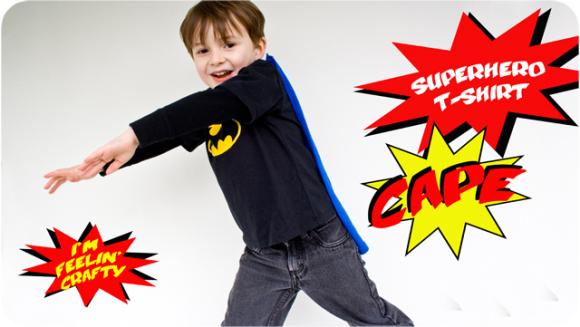 Superhero t-shirt cape tutorial