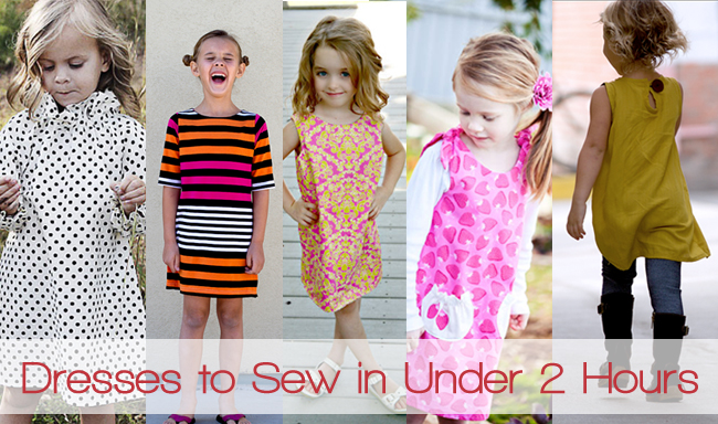 Dresses to sew for girls in under 2 hours. Easy for beginners.