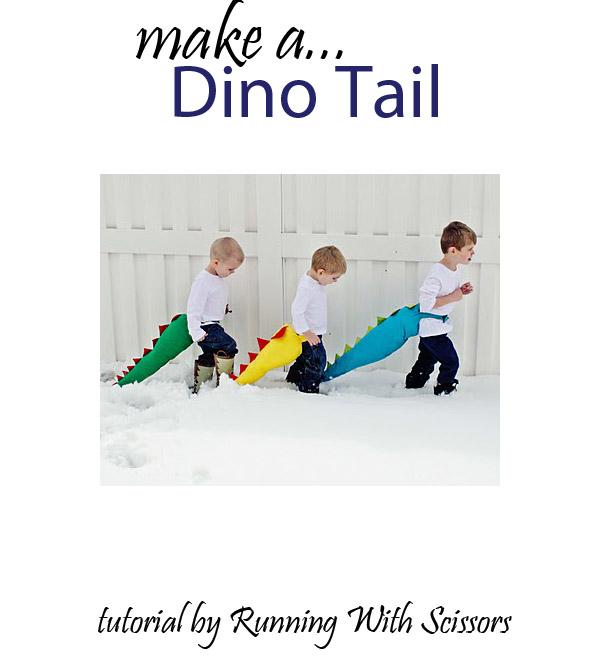 make a dino tail