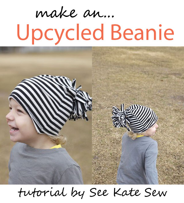 e9284aa5589 ... See Kate Sew for the tutorial! upcycled beanie