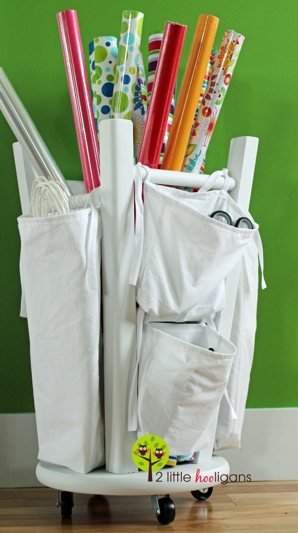 Wrapping Paper Organizer DIY