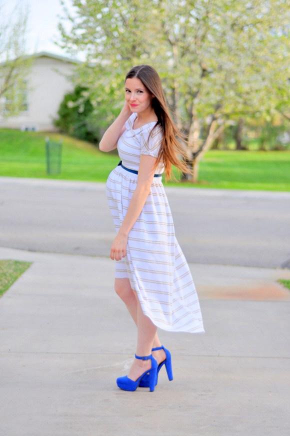 High Low maternity DIY dress tutorial