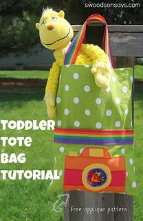 Toddler Tote Bag Tutorial Swoodson Says (1)