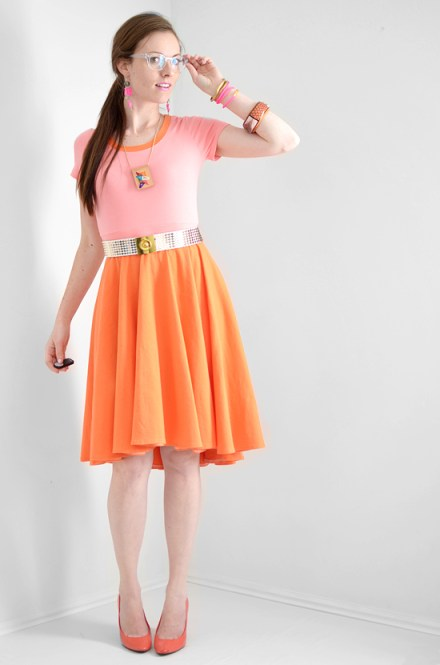 istillloveyou-orange-pink-high-low-dress-sewing-tutorial-1