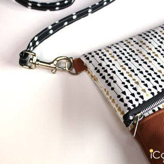 DIY Foldover Clutch with straps by ICandy Handmade - Sewtorial