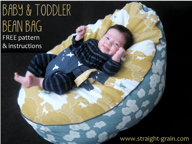 how to sew bean bag chair patio with ottoman underneath baby and toddler diy - sewtorial