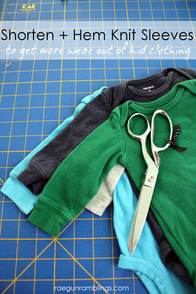 shorten knit  by RaeGun Ramblings - Sewtorial