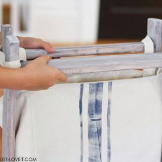 Foldable DIY Wood Hamper on Make It Love It - Sewtorial
