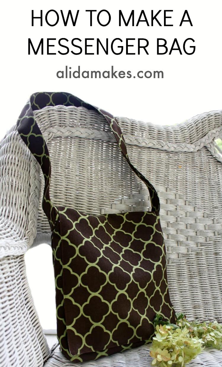 DIY messenger bag by Alida Makes - Sewtorial