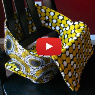 DIY portable baby chair by Made by Marzipan - Sewtorial