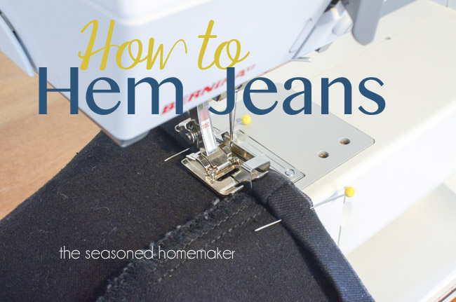 Are your jeans too long? Learn how to hem jeans with this informative tutorial by the Seasoned Homemaker. - Sewtorial
