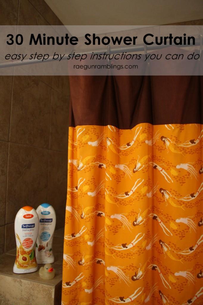 30 minute shower curtain tutorial by Raegun Ramblings - Sewtorial