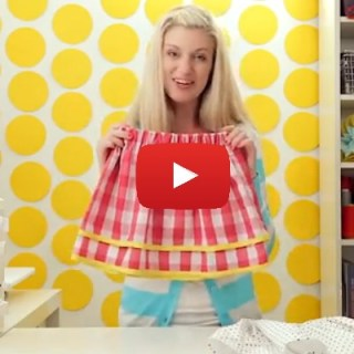 Here's a great beginner project! Dana from MADE shares a video tutorial for a simple skirt that's easy to make - no pattern necessary.