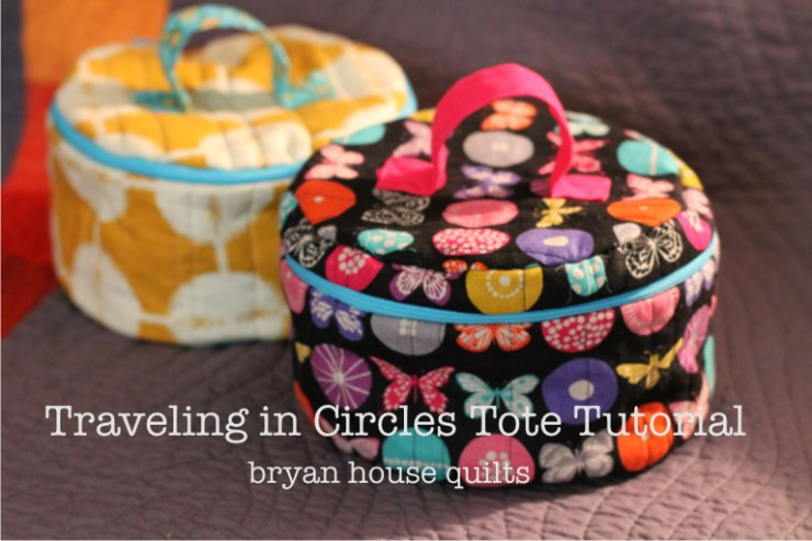 Bryan House Quilts shares a travel tote tutorial that's not just for vacation.  Store your favorite DIY supplies or even as a make up case. -Sewtorial