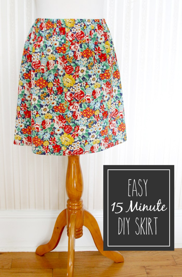 Try this super quick and comfy 15 minute skirt by Illuna. At only 15 minutes per skirt, you can have an entire skirt wardrobe in no time. -Sewtorial