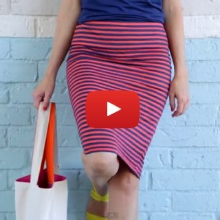 Looking for something to wear but short on time? Try this 20 minute pencil skirt tutorial video by Dana from Made.