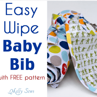In this video tutorial by Melissa from Melly Sews, learn to make an easy wipe baby bib using bias tape. -Sewtorial