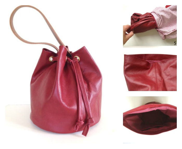 This Drawstring Bucket Bag by Suzanna Drew-Edwards is a classic accessory for all seasons and easier to make than you might think. -Sewtorial