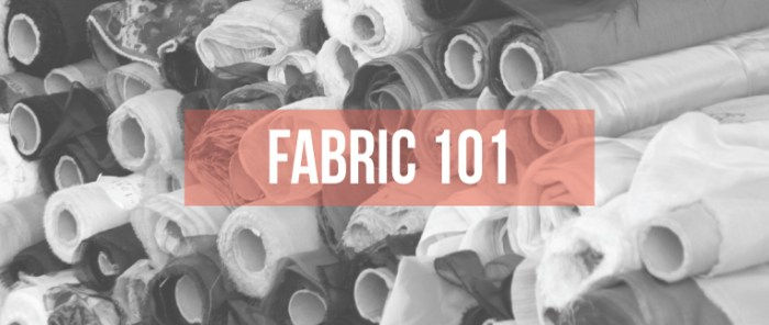 In this Fabric 101 article, Isn't That Sew offers a detailed resource with lots of useful fabric tips for all sewing levels. -Sewtorial
