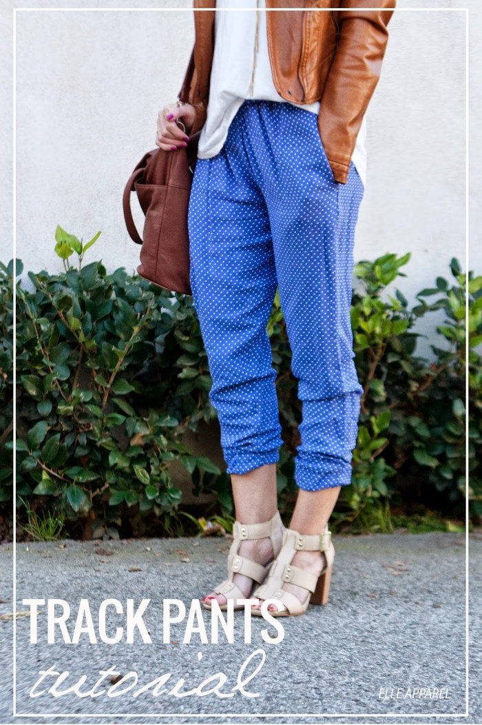 Sew up these stylishly comfy pants with this track pants tutorial by Elle Apparel.- Sewtorial