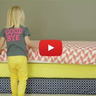 Crib sheets are ultra easy to make and only require 2 yards of fabric.