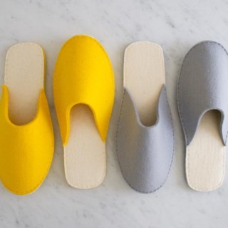 Chic, comfy and easy to make, you'll want these stacked felt slippers by The Purl Bee in every color. -Sewtorial