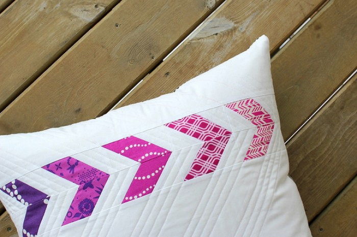The Flyin' Together Pillow by Canoe Ridge Creations will elevate the look of any room with its unique splash of color and design.- Sewtorial