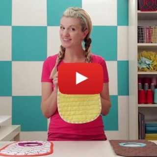 Extra placemats lying around? Dana from MADE shares a unique video tutorial for making placemat baby bibs. -Sewtorial