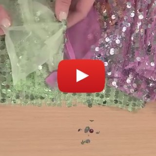 Amber Eden of It's Sew Easy shows how to sew with sequins fabric in this video tutorial. -Sewtorial