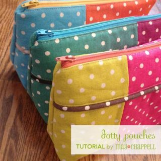The versatile design of the Dotty Pouch by May Chappell allows you to mix and match your favorite fabrics to create different looks. Sewtorial