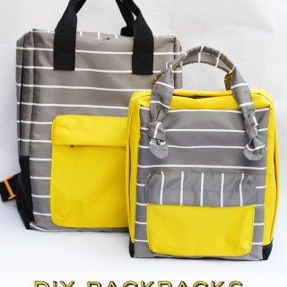 Here's a great (and easy to follow) mini backpack tutorial by Celina (for The Sewing Rabbit). Save it for later! -Sewtorial