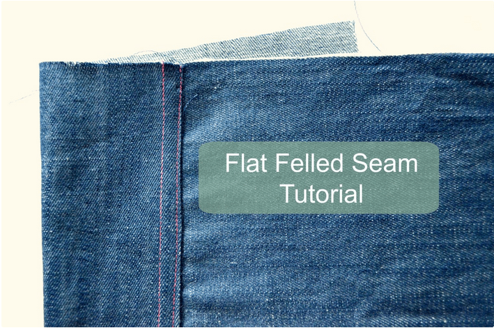 Flat Felled Seams SEWTORIAL