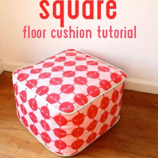 Need a place to prop those tired tootsies after a long day? Made By Rae shows how to make a square floor cushion in this easy tutorial. -Sewtorial