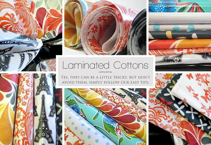 In this laminated cotton's primer by Sew4Home, you'll learn tips and tricks for working with this persnickety fabric. -Sewtorial