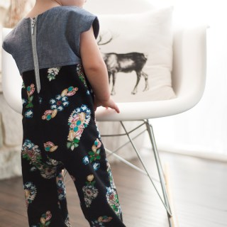 """The Penny Playsuit by Shwin and Shwin is not your average """"play"""" suit. With a contrasting bodice and back zipper, fabric choices become your playground. -Sewtorial"""