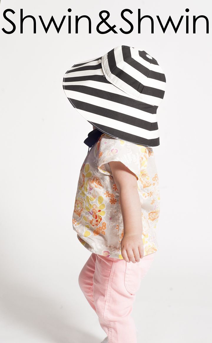 Protect your little one from harsh sun rays with this adorable sunhat by Shwin and Shwin. -Sewtorial