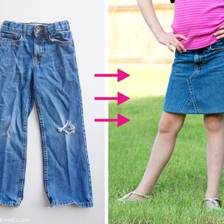 Don't throw those jeans out. Turn them into a skirt. Make It Love It shows how in this jeans to skirt tutorial. (Works on all sizes) -Sewtorial