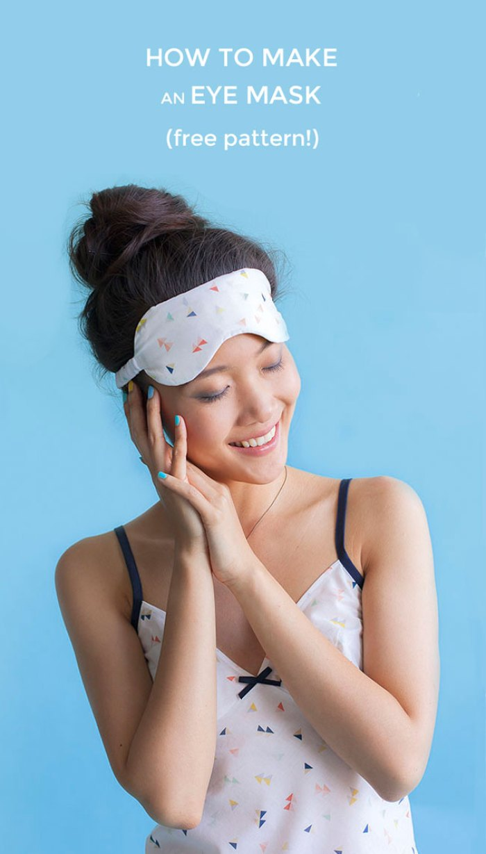 Need it extra dark when getting your beauty sleep? This cute DIY sleep mask by Tilly and the Buttons is sure to do the trick! (free pattern) -Sewtorial