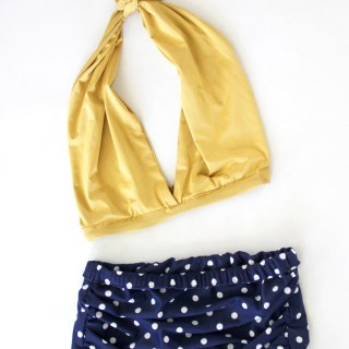 This halter and bikini swimsuit tutorial by Me Sew Crazy offers easy step-by-step instructions to create a 2 piece swimsuit that you'll love. -Sewtorial