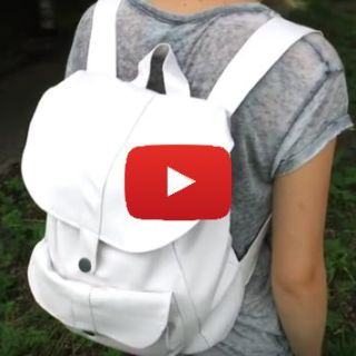 Learn how to make a back-to-school backpack in faux leather with this rucksack tutorial by Yf's World. - Sewtorial
