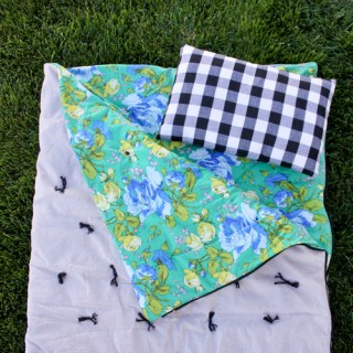 The anticipated adventures of a sleepover are even more exciting with a cozy handmade toddler sleeping bag like this one by Delia from Delia Creates. Sewtorial