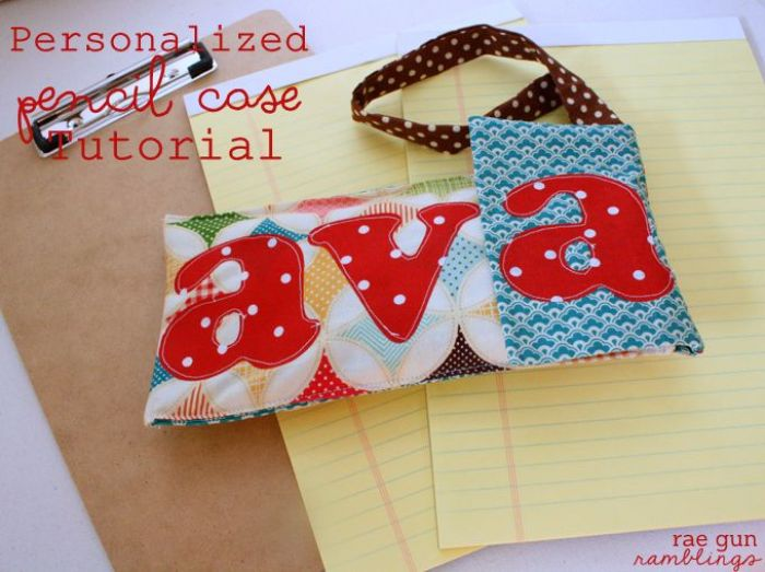 Create a personalized pencil case that will stand out from the rest with this easy tutorial by Rae Gun Ramblings. -Sewtorial