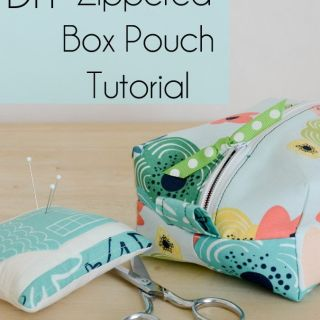 Create beautiful storage in your favorite fabric with this zippered box pouch tutorial by The Seasoned Homemaker—perfect for makeup and accessories. -Sewtorial