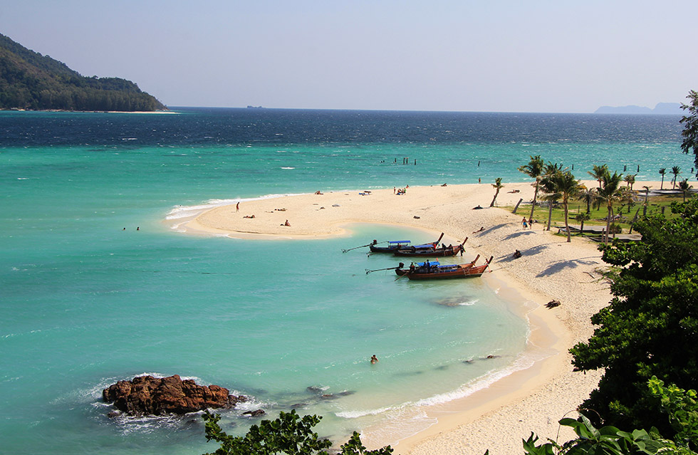 Iconic view on Karma Beach on Koh Lipe