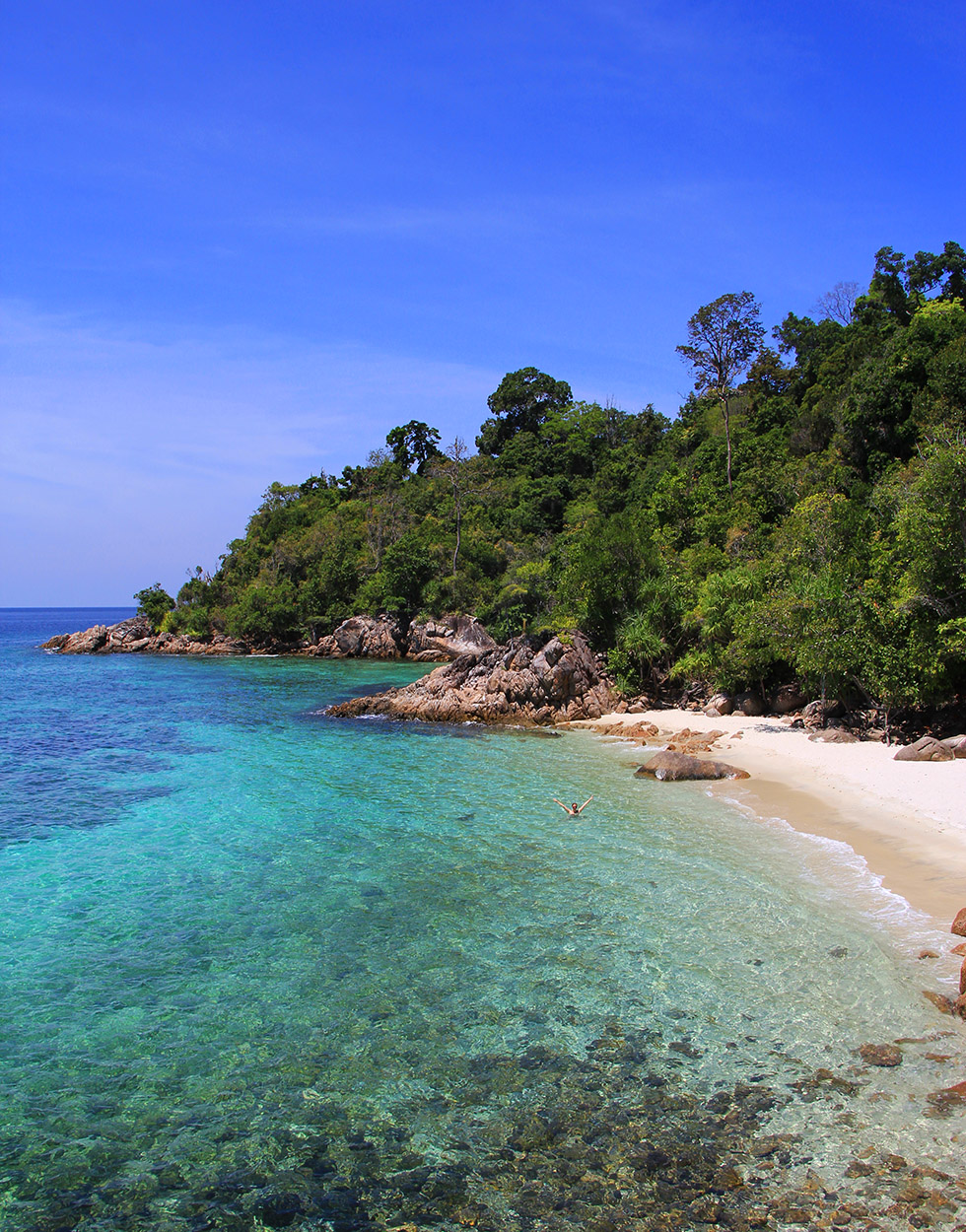 Can you spot me? - Secret Beach on Koh Lipe